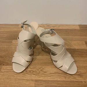 🌼 2/$40 Nine West Jenicca Open Toed Heel Sz 8.5